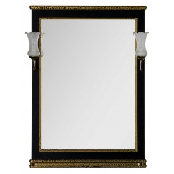 Зеркало Aquanet Валенса 70 черный краколет/золото