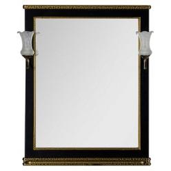 Зеркало Aquanet Валенса 80 черный краколет/золото