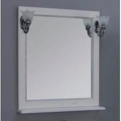 Зеркало Акватон Жерона 85 белое серебро