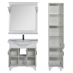 Зеркало Aquanet Валенса 90 белое