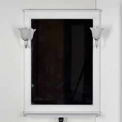 Зеркало Aquanet Валенса 70 белый краколет/серебро