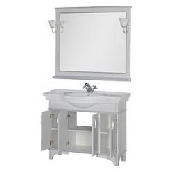Зеркало Aquanet Валенса 110 белый краколет/серебро