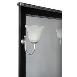 Зеркало Aquanet Валенса 70 черный краколет/серебро