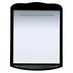 Зеркало Misty Дайна 85 черное, с подсветкой