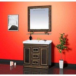 Зеркало Misty Fresko 90 черное краколет