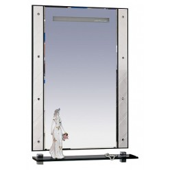 Зеркало Misty Гранд Lux 60 бело-черная кожа cristallo