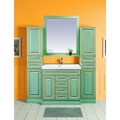 Зеркало Misty Vena 90 салатовое, патина