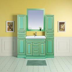 Зеркало Misty Vena 75 салатовое, патина