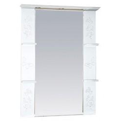 Зеркало Misty Вирджиния Бабочка 90 белое фактурное