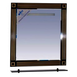 Зеркало Misty Venezia 75 черная патина