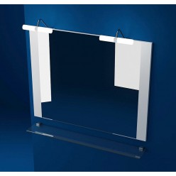 Зеркало Triton Ника 100 с подсветкой, белое