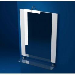 Зеркало Triton Ника 75 с подсветкой, белое