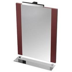 Зеркало Triton Ника 60 с подсветкой, вишневое