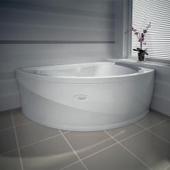 """Акриловая ванна """"Альбена"""" Chrome с полотенцедержателем Комплект"""