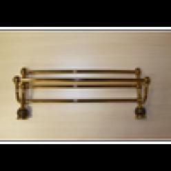Полотенцедержатель с полочкой (gold)