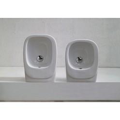 Биде подвесное Hidra Ceramica Dial белое с черным