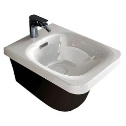 Биде подвесное Hidra Ceramica Flat белое с черным