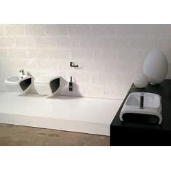 Биде напольное Hidra Ceramica Hi-line белое с черным