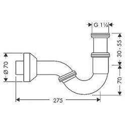 Комплект Биде подвесное VitrA S50 5324B003 + Система инсталляции для биде VitrA 780-5820 + Смеситель Hansgrohe Focus E2 31920000 для биде + Сифон для