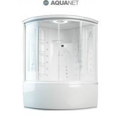 Душевая кабина Aquanet Palau box 140×140 с паром и гидромассажем, стекло прозрачное (ванна с г/м)