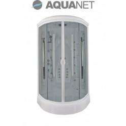 Душевая кабина Aquanet Taiti 110×110 с паром и гидромассажем, стекло прозрачное