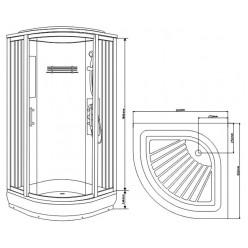Душевая кабина Aquanet С5043С 80×80, стекло прозрачное