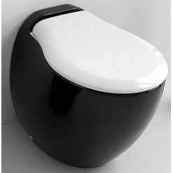 Унитаз приставной ArtCeram Blend BLV002 черный с белым