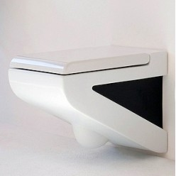 Унитаз подвесной ArtCeram LaFontana LFV001 белый с черным