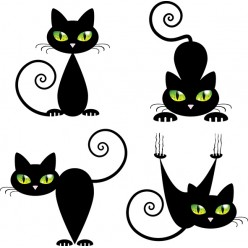 Black cat 2 Декор 10х10