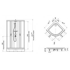 Душевая кабина Triton Гидрус 2 графит