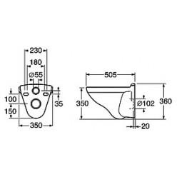 Унитаз подвесной Gustavsberg Logic 5693 жесткая крышка