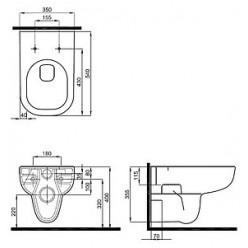 Унитаз подвесной IFO Grandy RP213100200 Rimfree без внутреннего ободка