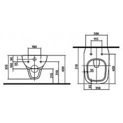 Унитаз подвесной IFO Sjoss Rimfree RP313200600 без внутреннего ободка