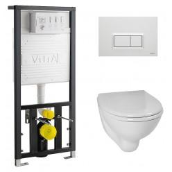 Комплект VitrA Arkitekt 9005B003-7210 кнопка белый