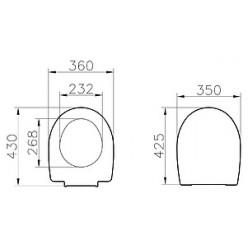 Комплект VitrA Arkitekt 9005B003-7212 кнопка матовый хром