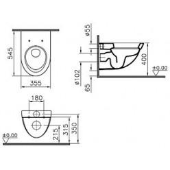 Унитаз подвесной VitrA Form 500 4305B003