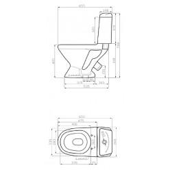 Унитаз-компакт Della Glance Super Plus 45 джаз черный