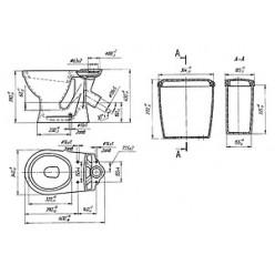 Унитаз-компакт Оскольская керамика Суперкомпакт серый металлик