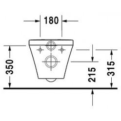 Унитаз подвесной Duravit DuraStyle 2538090000