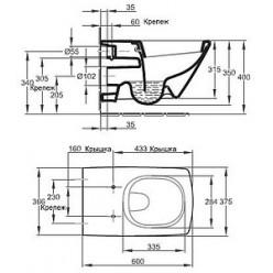 Унитаз подвесной Jacob Delafon Escale E1306