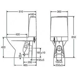 Унитаз-компакт IDO Seven D 3921801101 укороченная модель c жестким сидением