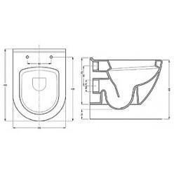 Комплект Serel SM12+SAN85 подвесной унитаз + инсталляция + кнопка