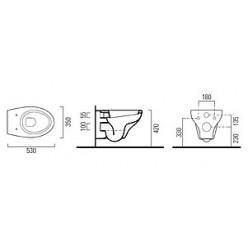 Комплект GSI City MCITY1811 с кнопкой смыва