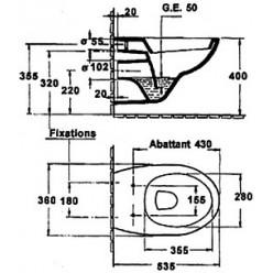 Комплект Чаша для унитаза подвесного Jacob Delafon Patio E4187 + Крышка-сиденье с микролифтом + Инсталляция Grohe Rapid SL 38750001 4 в 1 с кнопкой