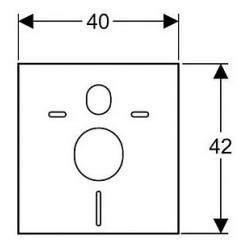 Комплект Унитаз подвесной Jacob Delafon Presquile E4440 + Инсталляция Geberit Платтенбау 458.125.21.1 4 в 1 с кнопкой смыва + Шумоизоляция