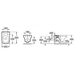 Комплект Система инсталляции для унитазов Laufen Lis CW1 8.9466.0 + Кнопка смыва Laufen Lis 8.9566.1.004.000.1 хром + Крышка-сиденье Roca Dama Senso