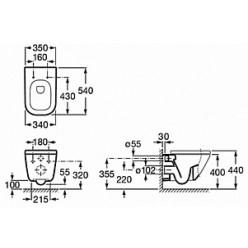 Комплект Инсталляция Grohe Rapid SL 38750001 4 в 1 с кнопкой смыва + Чаша для унитаза Roca Gap 34647L000 + Крышка-сиденье Roca Gap с микролифтом