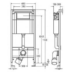 Комплект Villeroy & Boch O Novo 5660 H101 с кнопкой смыва