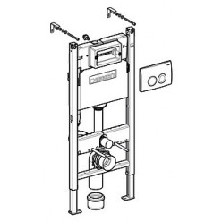 Комплект Унитаз подвесной Villeroy & Boch O'Novo 5660 H101 alpin + Инсталляция Geberit Duofix Delta 458.124.21.1 3 в 1 с кнопкой смыва
