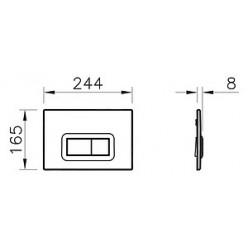 Комплект Комплект VitrA Form 300 9812B003-7203 кнопка хром + Раковина VitrA Arkitekt 6069B003 встраиваемая + Гигиенический душ Lemark Atlantiss LM321